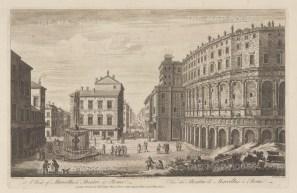 Teatro Marcello and Via del Foro Piscario. After Giovanni Piranesi.