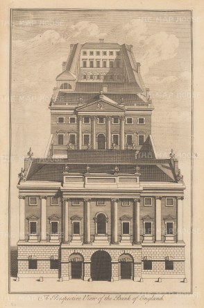 Perspective view on Threadneedle Street.