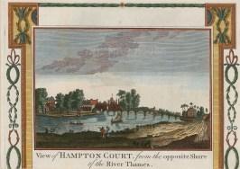"Hogg: Hampton Court Palace. c1780. A hand coloured original antique steel engraving. 5"" x 3"". [LDNp10336]"