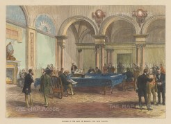 Interior view of the bank parlour.