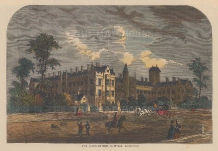 Hospital for Consumption and Diseases of the Chest. View on Fulham Road