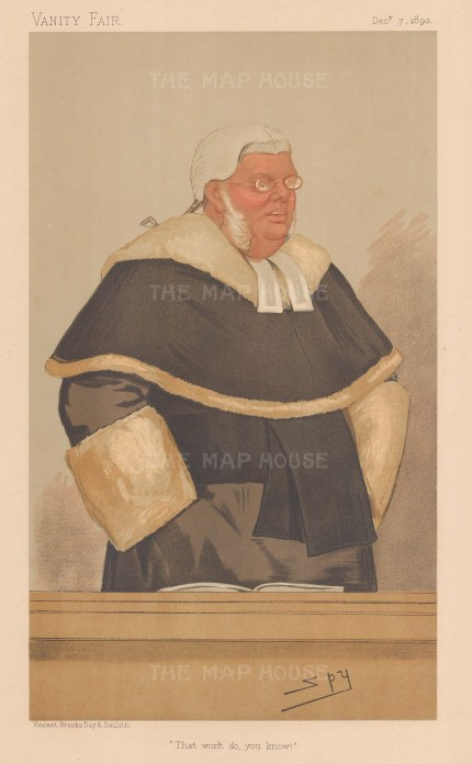 That won't do, you know! Sir Lewis William Cave, Justice of the Queen's Bench. SPY