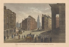 Cornhill. Lombard Street and Mansion House.