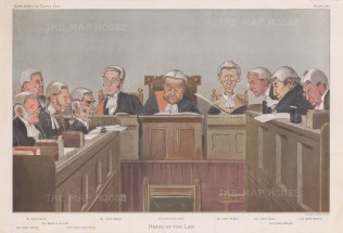 'Heads of the Law': The Lord Chief Justice and other senior Judges. SPY.