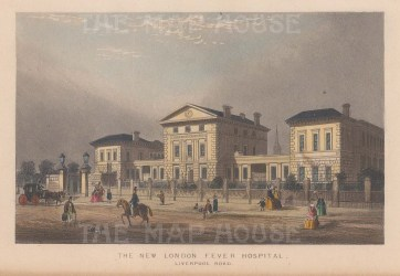 London Fever Hospital (Royal Free Hospital). View on Liverpool Road.