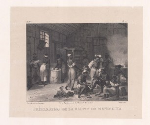 Preperation de la Racine de Mendiocca (Casava): Interior scene.