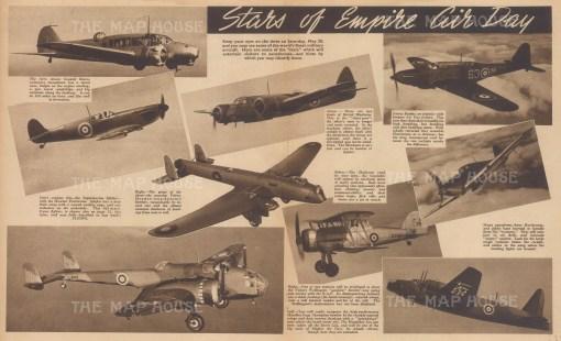"Flying Magazine: Empire Air Day. c1939. An original black & white vintage photo-lithograph. 18"" x 11"". [AVIp38]"