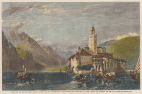 View of Isola San Giulio and the Basilica di San Giulio.