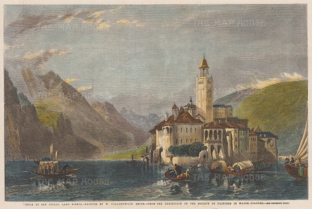 Lago Orta: View of Isola San Giulio and the Basilica di San Giulio.
