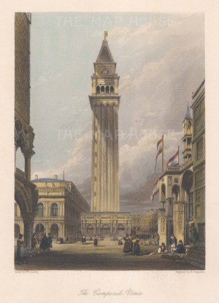 Venice: Piazza San Marco. View of the Campanile.