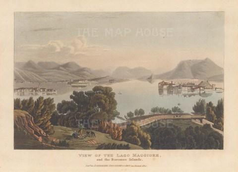 Lago Maggiore: Panorama towards the Borromeo islands.
