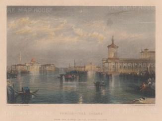Venice: Dogana del Mare. View of San Giorgio Maggiore, Santa Maria della Salute and Santa Maria della Presentazione.