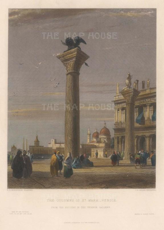Venice: Piazza San Marco. Colonne San Marco. After Richard Bonnington.