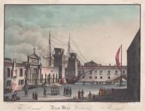 Arsenale di Venezie. View of the Porta Magna.