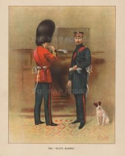 """Richards: Scots Guards. c1890. An original antique chromolithograph. 7"""" x 9"""". [MILp100]"""