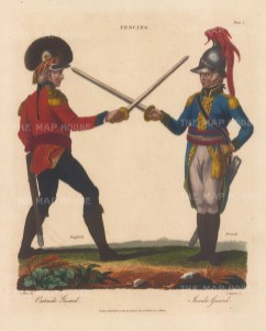 English soldier on Outside Guard with French Soldier on Inside Guard