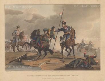 Battle of Albuera. Marshal Beresford engaged with the Polish Lancer.