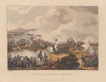 Battle of Albuera, 1811. Peninsular campaign. After William Heath