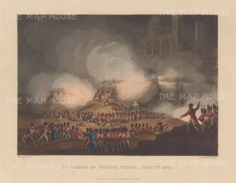 Battle of Montevideo, 1807. Campaign on the River Plate. After William Heath.