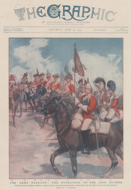 Pictorial evolution of the uniform from 1660 to 1834.
