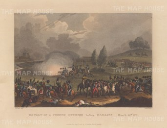 Defeat of French Division before Badajos, 1811. After William Heath.