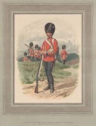 "Graphic Magazine: Grenadier Guards, Third Battalion. 1889. An original antique chromolithograph. 12"" x 17"". [MILp97]"