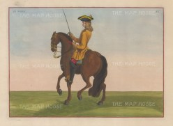"Eisenberg: Le Noble. 1727. A hand coloured original antique copper engraving. 13"" x 10"". [NATHISp4215]"