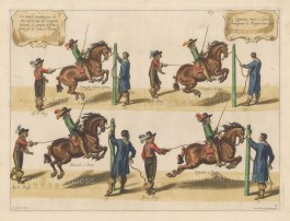 Four examples of leaps; Balotades,Groupade, Caprioles and demi-Air de ferme.