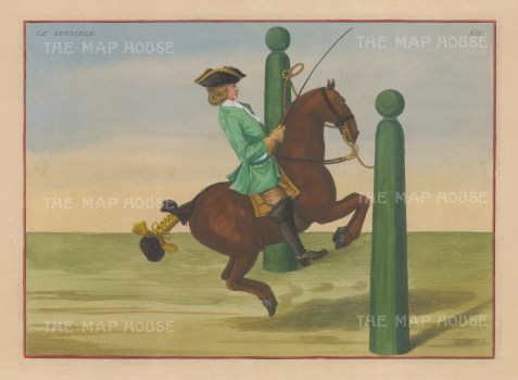 "Eisenberg: Le Sensible. 1727. A hand coloured original antique copper engraving. 12"" x 9"". [NATHISp5337]"