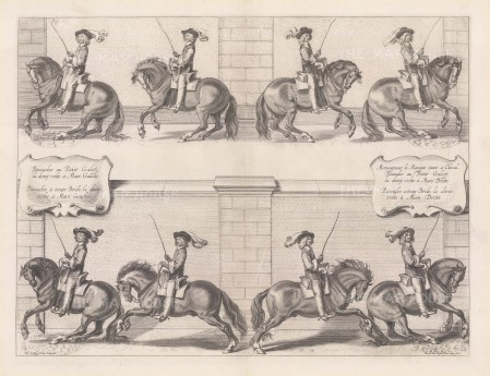 Horses completing a demivolte on both the left and right hand side. Plate 22.