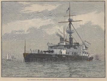 Steel armoured twin-screw turret-ship.