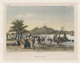 Matelots: Sailors disembarking in Brazil. Matelot, Dutch for bed companion, was slang for sailors as they shared hammocks.