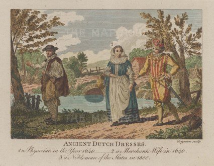 Physcian in 1640, Merchant's wife in 1640 and a nobleman in 1588.