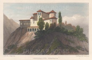 Generalife. View of the palace on Cerro del Sol.