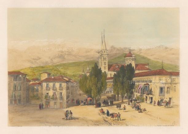 Carrera del Darro. View of the old town.