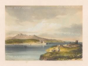"""Vivian: Biscay, Spain. 1838. An original colour antique lithograph. 13"""" x 10"""". [SPp983]"""