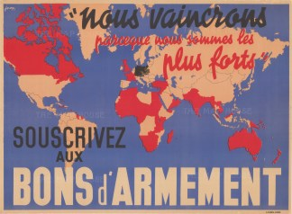 Wld 4457 1939 kaap Souscrivez aux Bons d'ArmementsVintage French propaganda poster published in the early days of WWII to encourage French citizens to purchase war bonds. Printed colour.