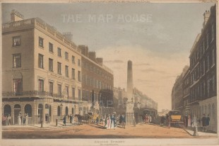 Bridge Street. View of the obelisk on the junction of Fleet Street and Ludgate Hill.