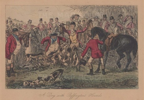 A Day with Puffington's Hounds for Richard Surtees' Mr Sponge's Sporting Tour.