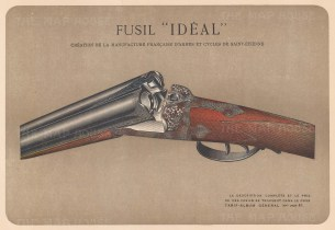 "Mahler: Gun. c1907. An original antique chromolithograph. 8"" x 6"". [FIELDp1401]"