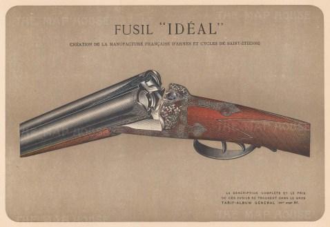 """Mahler: Gun. c1907. An original antique chromolithograph. 8"""" x 6"""". [FIELDp1401]"""