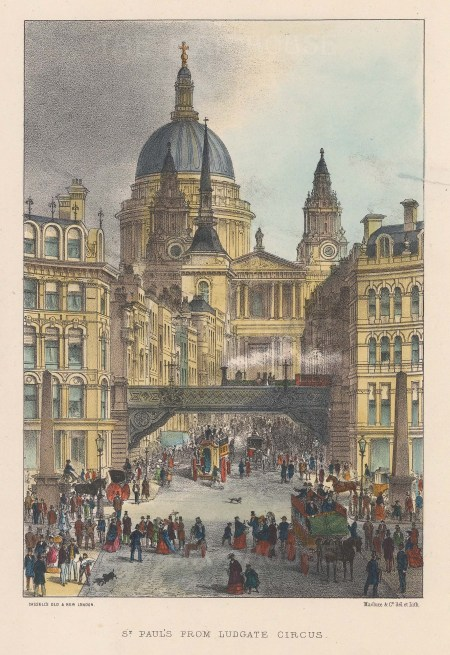 View of St Paul's from Ludgate Circus.