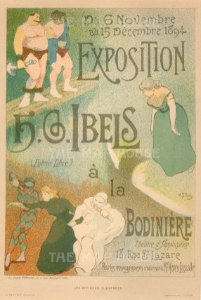 Exposition of Henri-Gabriel Ibels, member of Les Nabis (The Prophets), an influential group of vant Garde artists.