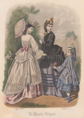 Two designs and girl's dress.