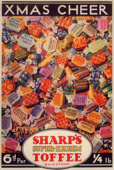 "Punch: Sharp's Super-Kreem Toffee. 1931. An original vintage chromolithograph. 8"" x 10"". [DECp1803]"