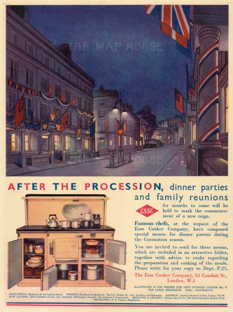 "Punch: Esse Cooker Company. 1937. An original vintage chromolithograph. 8"" x 10"". [DECp1879]"