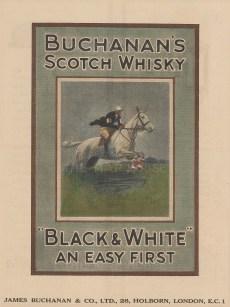 "Punch: Buchanan's Scotch Whiskey. 1924. A hand coloured original antique wood engraving. 6"" x 10"". [DECp1885]"