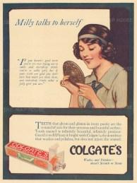 "Punch: Colgate Ribbon Dental Cream. 1929. An original vintage chromolithograph. 7"" x 10"". [DECp1929]"