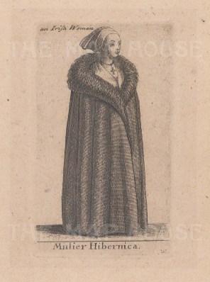 An Irish Woman in Winter dress.