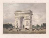 "Benoit: Colonade of the Louvre. c1860. A hand coloured original antique lithograph. 16"" x 12"" [FRp1221]"
